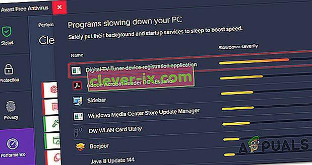 Hva er Digital TV Tuner Device Application Application og bør det fjernes?