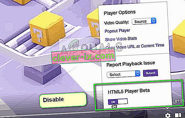 Deaktiver HTML5 Player i Twitch mens du bruker Google Chrome
